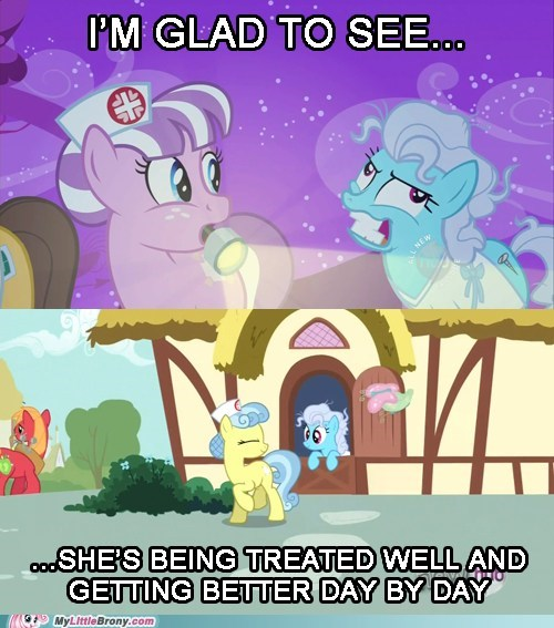 crazy,nurse,background ponies