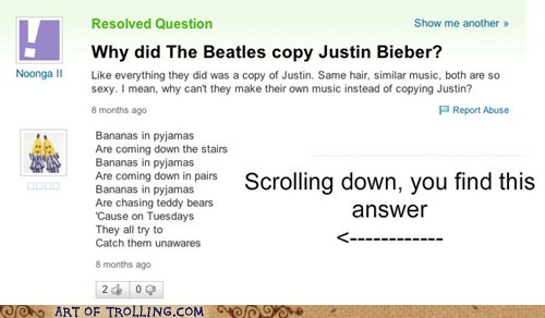 yahoo answers bananas in pajamas justin bieber - 7006961408