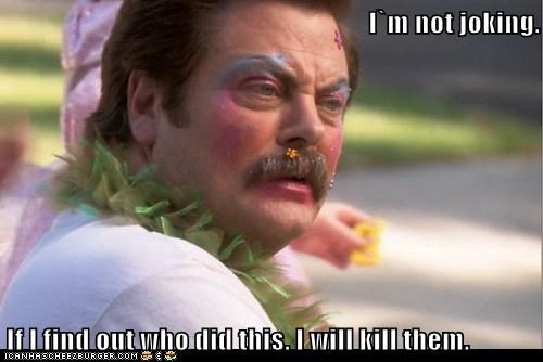parks and recreation ron swanson joking Nick Offerman find out - 7007141120