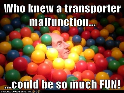 fun,transporter,Captain Picard,ball pit,Star Trek,patrick stewart