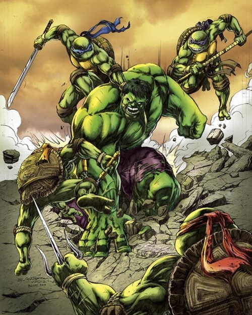 art TMNT awesome hulk - 7007287552