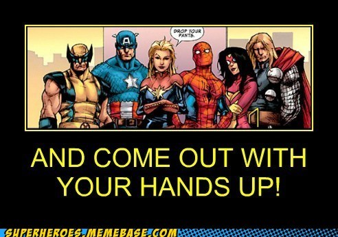 wtf pants avengers hands up - 7007423744
