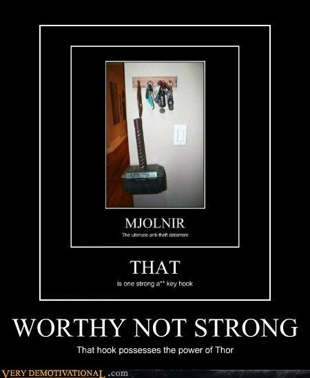 Thor,worthy,hammer,mjolnir,key hook