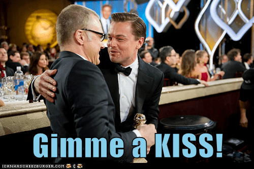 golden globes leonardo dicaprio KISS personal space too close - 7007560704