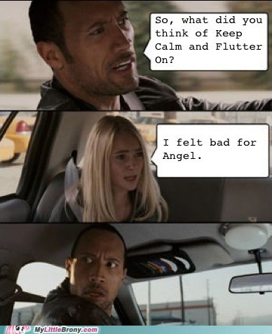 angel keep calm and flutter on Bronies Memes - 7007640576