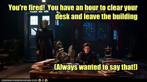 madame vastra fired silurians desk the doctor Matt Smith doctor who leave