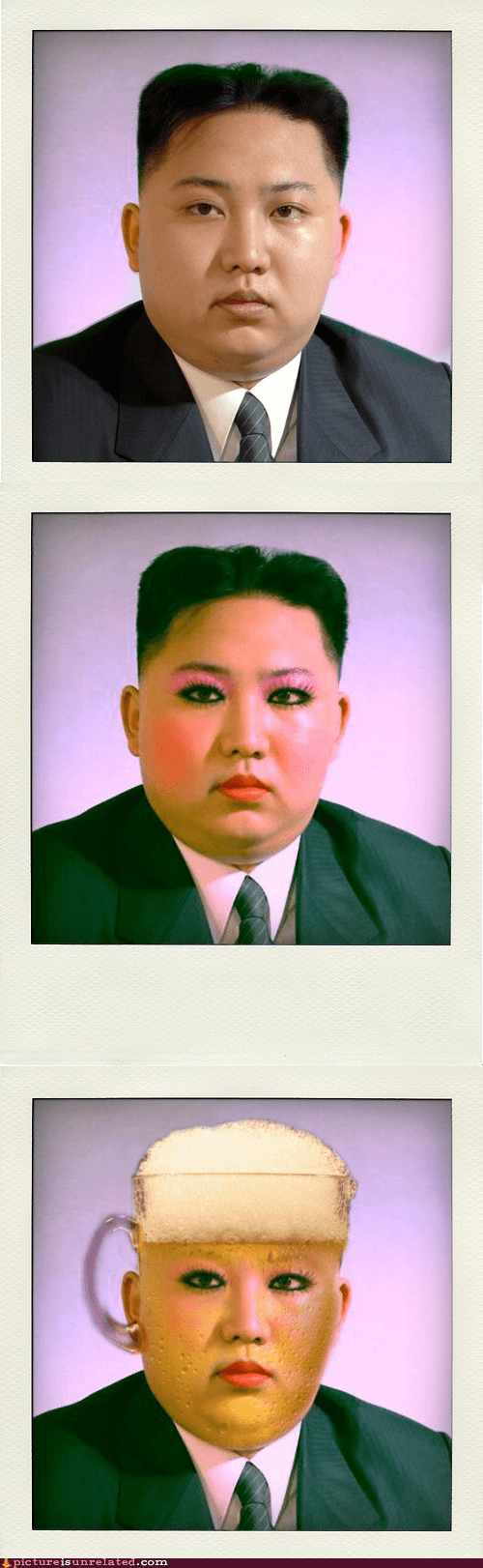 kim jong-un,shopped pixels,evolution,North Korea