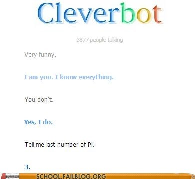 Cleverbot math pi