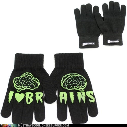 zombie gloves brains