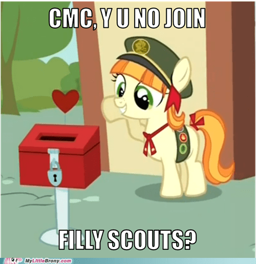 filly scouts cutie mark crusaders fundraising