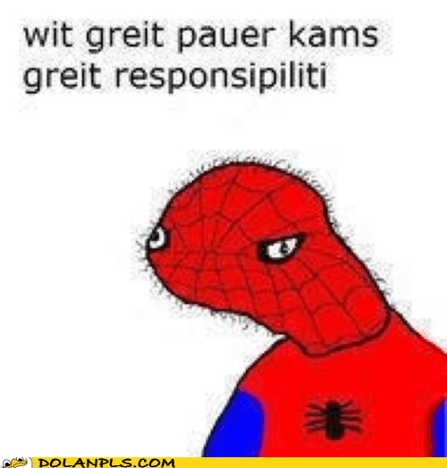 responsibility great power Spider-Man