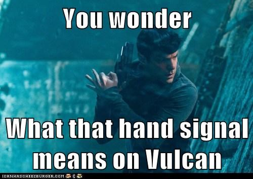 Spock,hand signals,Zachary Quinto,Vulcan,Star Trek,star trek into darkness