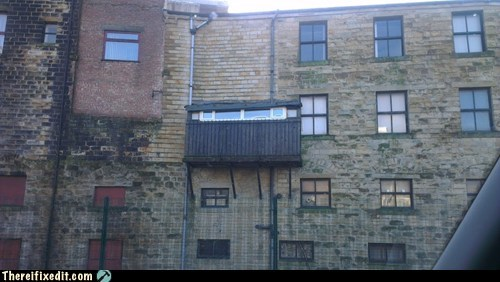 scaffolding facade burnley building apartment