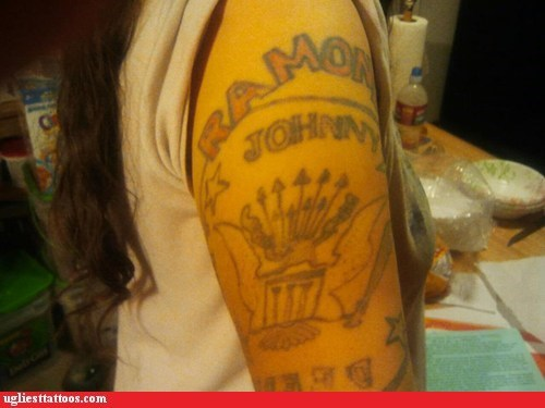 arm tattoos,the ramones
