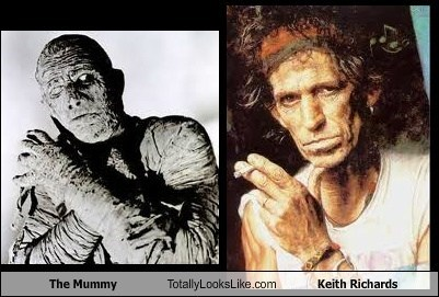 Keith Richards TLL The Mummy boris karloff rolling stones - 7010248192