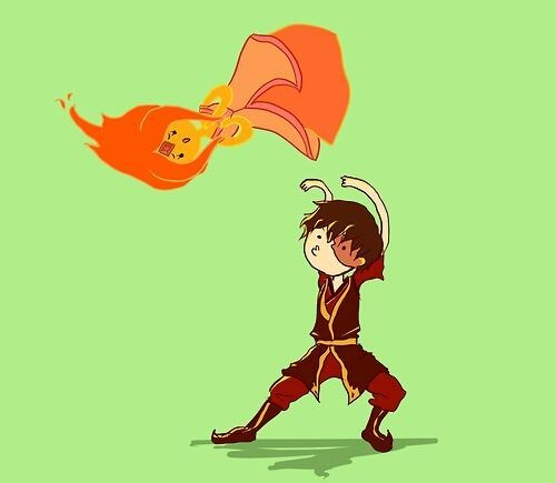 crossover Fan Art Avatar the Last Airbender flame princess cartoons - 7010636032
