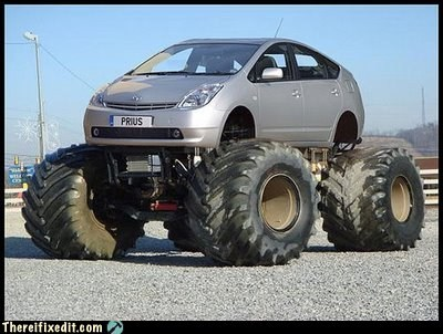 Prius,toyota prius,monster truck,g rated,there I fixed it