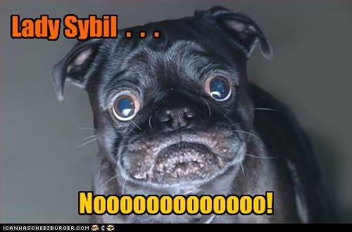 Lady Sybil . . . Nooooooooooooo!