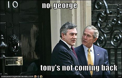 george w bush gordon brown Republicans Tony Blair - 701179648