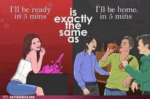 men vs women,getting ready,going home,women-vs-men