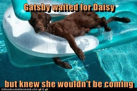 Gatsby waited for Daisy  but knew she wouldn't be coming