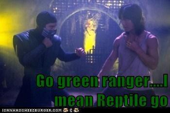 Go green ranger....I mean Reptile go