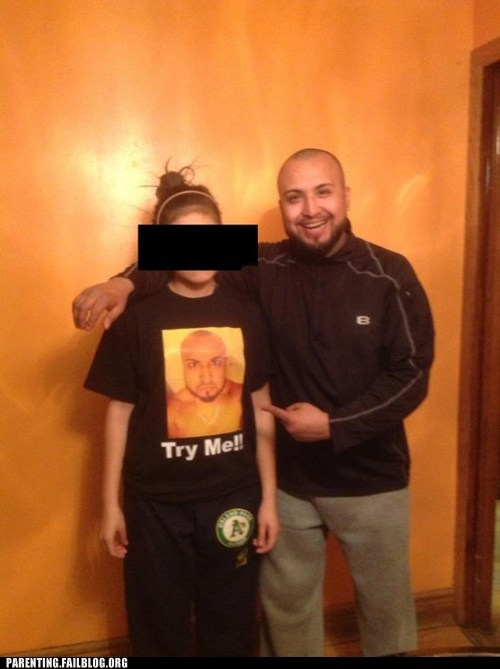 embarrasing parents,curfue,t shirts,poorly dressed,g rated