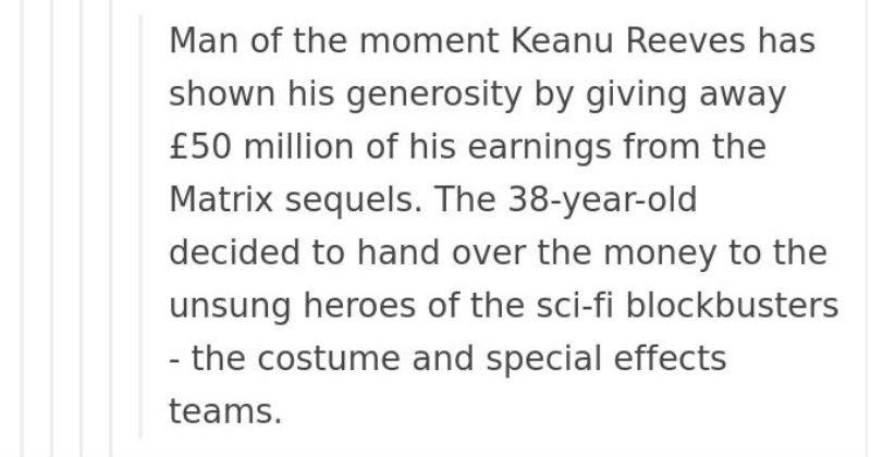 keanu reeves tumblr actor restoring faith in humanity week social media funny - 7013125