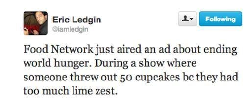 twitter,Ad,TV,cupcakes,Hypocrisy,world hunger