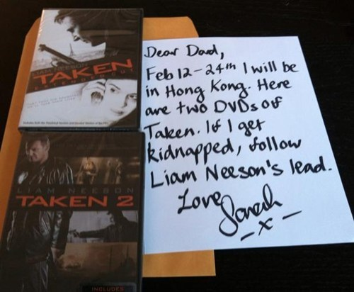 taken,dvds,liam neeson,g rated,Parenting FAILS