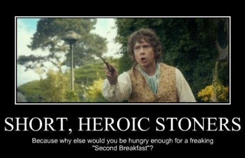 hobbits drugs marijuana Lord of the Rings second breakfast The Hobbit