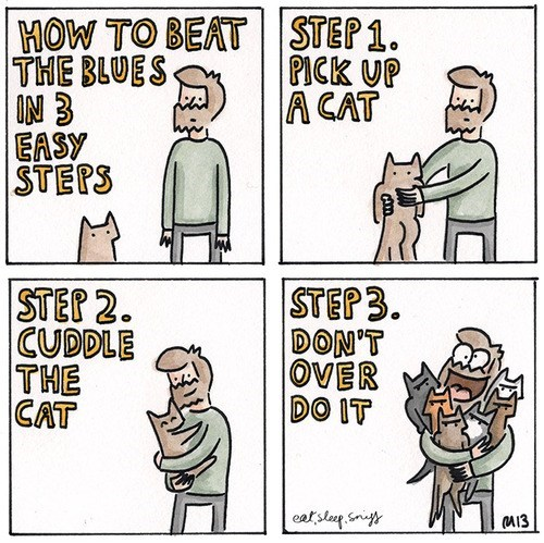 Sad,blues,steps,How To,comic,Cats