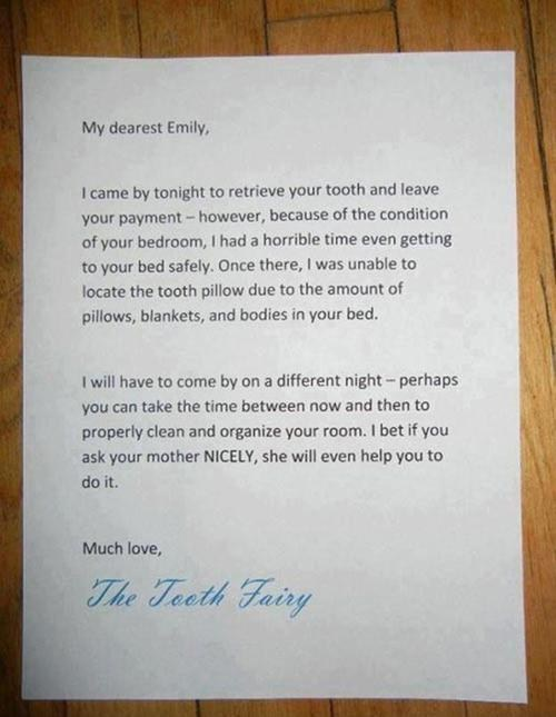 clean your room tooth fairy messy kids g rated Parenting FAILS