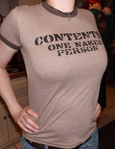 naked person shirt bewbs contents poorly dressed - 7013309440
