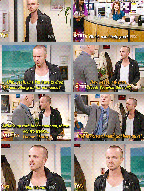 breaking bad,jesse pinkman,the office,to the rescue