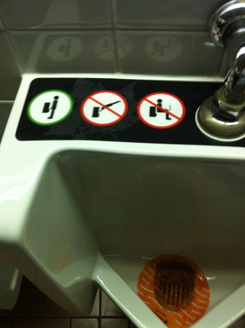 diving,bathrooms,urinals,no diving