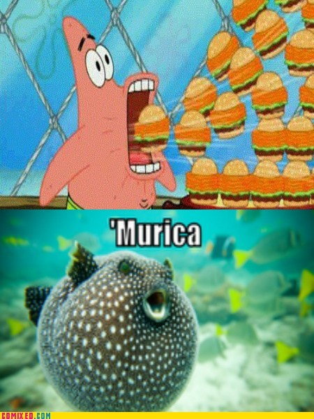 bikini bottom,SpongeBob SquarePants,'murica!