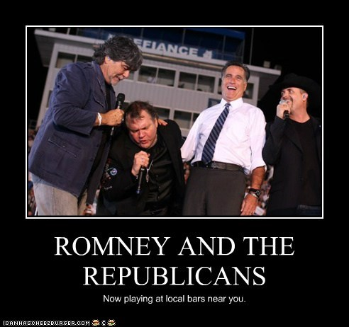 ROMNEY AND THE REPUBLICANS Now playing at local bars near you.