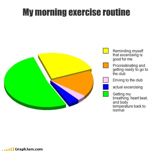 procrastination,exercise,Pie Chart