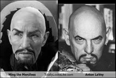 ming the merciless,bald,creepy,satanist,anton lavey,TLL
