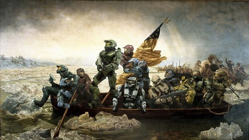 master chief,spartans,halo,crossing the delaware