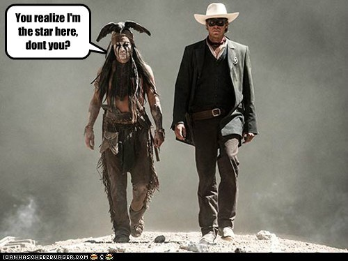 armie hammer tonto star Johnny Depp The Lone Ranger