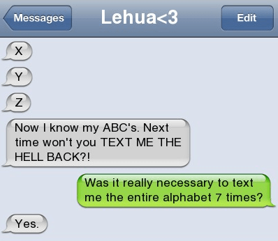 consequences text me back iPhones alphabet abcs - 7014198784