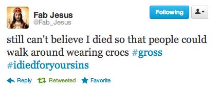 twitter,fab jesus,crocs