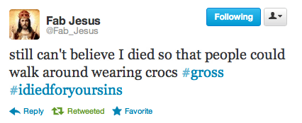twitter fab jesus crocs - 7014202112