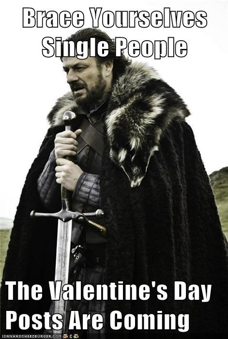 brace yourself,brace yourselves,singles,Valentines day