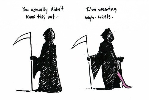Death,grim reaper,high heels