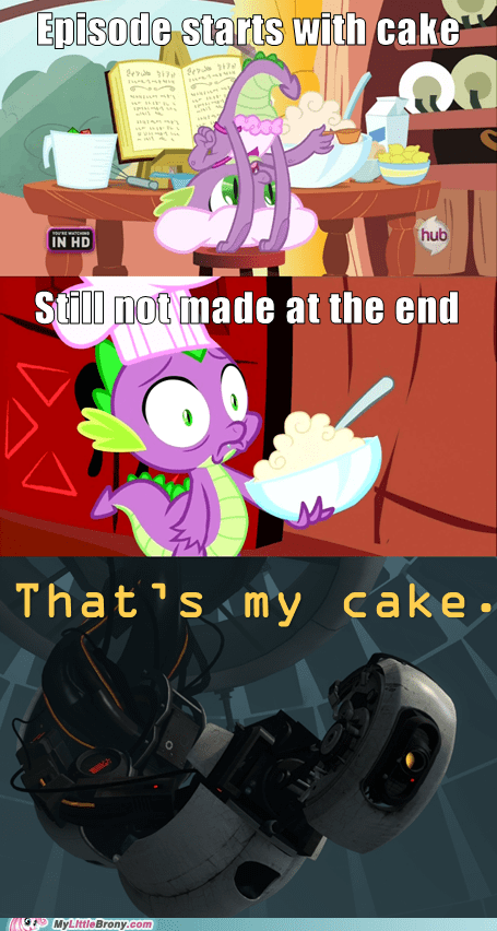 the cake is a lie spike Portal gladOS