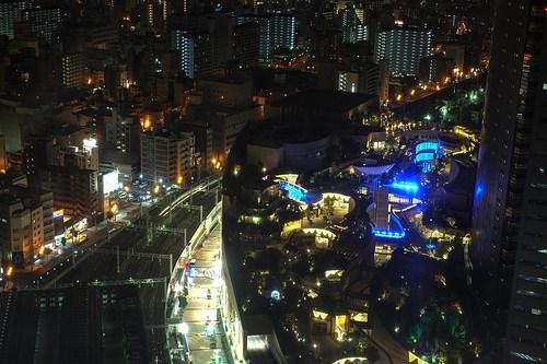 cityscape Japan osaka night