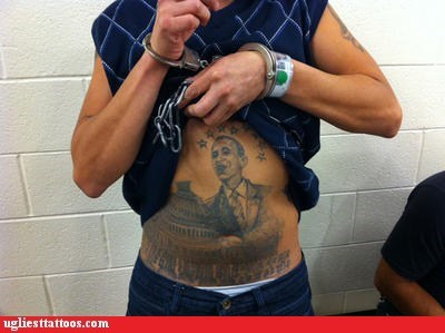 belly tattoos,barack obama